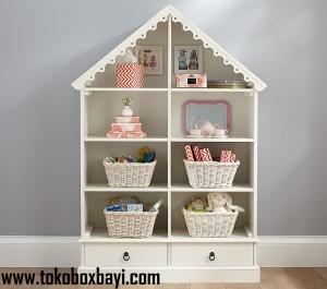 Rak Mainan Anak Model Rumah