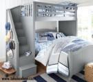 Tempat Tidur Tingkat Anak Tangga Laci